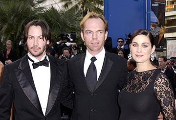 Keanu Reeves, Hugo Weaving and Carrie Anne Moss The Matrix: Reloaded Premiere Cannes Film Festival 5/15/2003