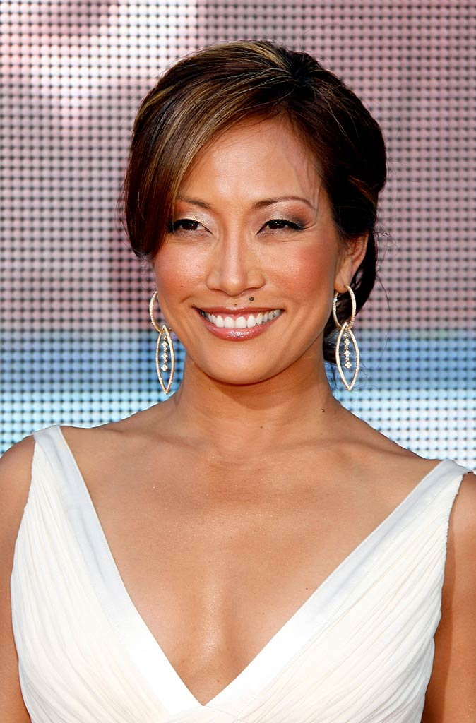 Carrie Ann Inaba arrives at the 59th Annual Primetime Emmy Awards.