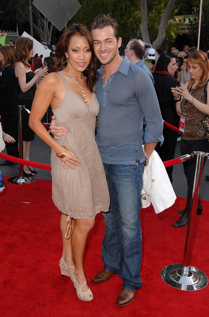 "Carrie Ann Inaba and Artem Chigvintsev at the ""Pirates of the Caribbean: At World's End"" World Premiere."