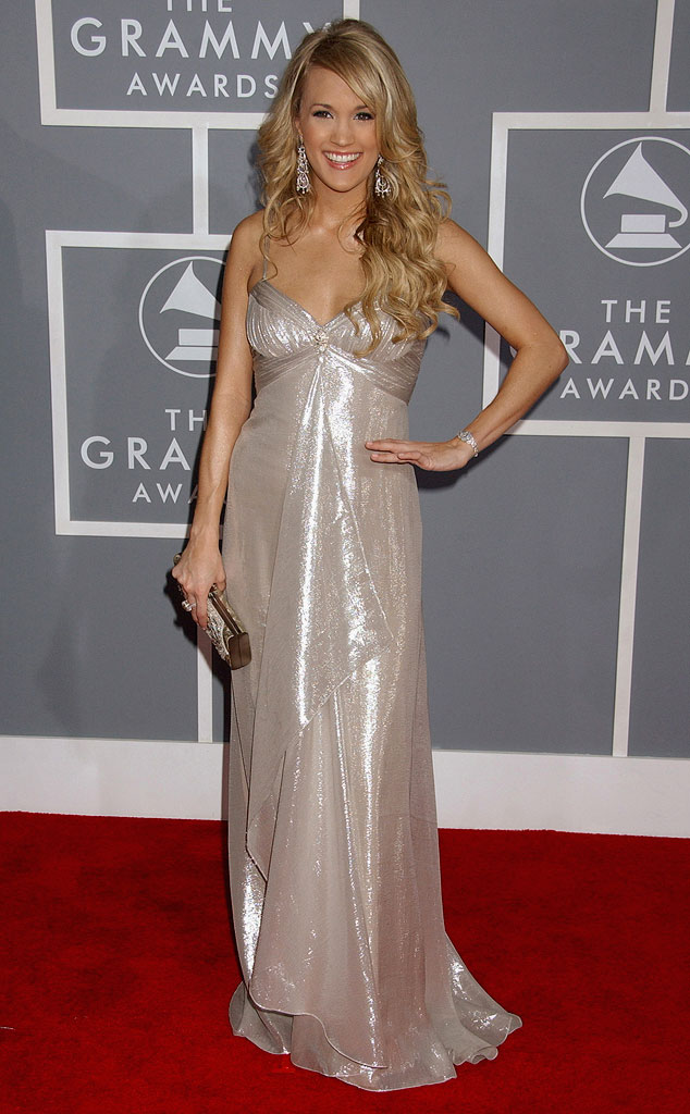 Carrie Underwood at The 49th Annual Grammy Awards.