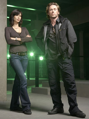 Catherine Bell and Michael Rodgers SCI FI Channel's 'The Triangle'