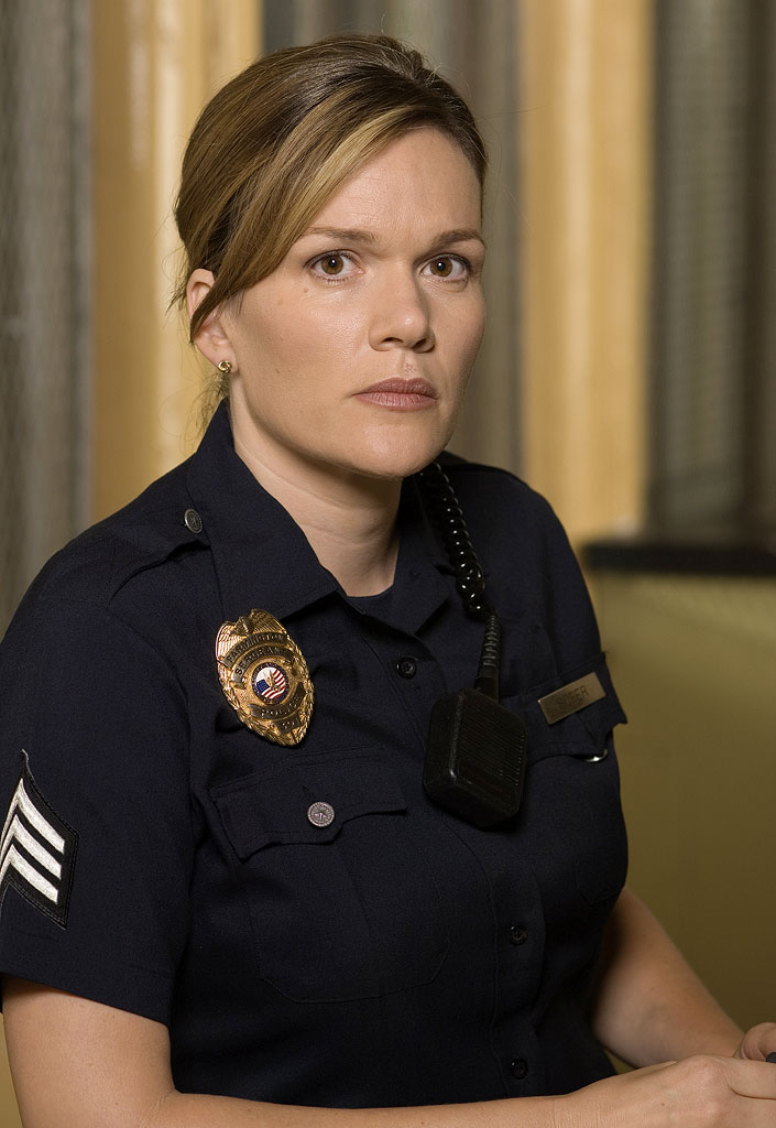 "Catherine Dent stars as Officer Danielle ""Danny"" Sofer in The Shield."