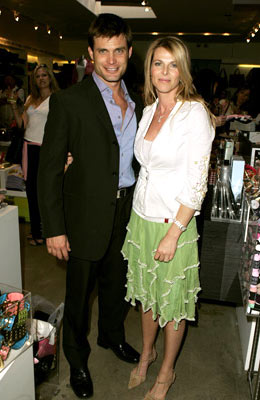 Premiere: Casper Van Dien and Catherine Oxenberg at Kitson in Beverly Hills for Warner Bros. Pictures' House of Wax - 4/21/2005