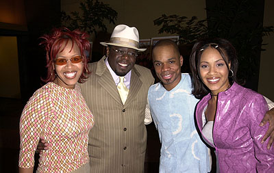 Premiere: Mary Mary with Cedric The Entertainer and Kirk Franklin at the Hollywood premiere of Fox Searchlight's Kingdom Come - 4/4/2001