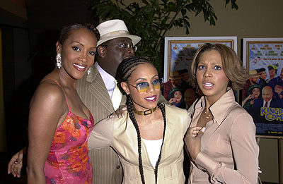 Premiere: Vivica A. Fox, Cedric The Entertainer, Jada Pinkett Smith and Toni Braxton at the Hollywood premiere of Fox Searchlight's Kingdom Come - 4/4/2001