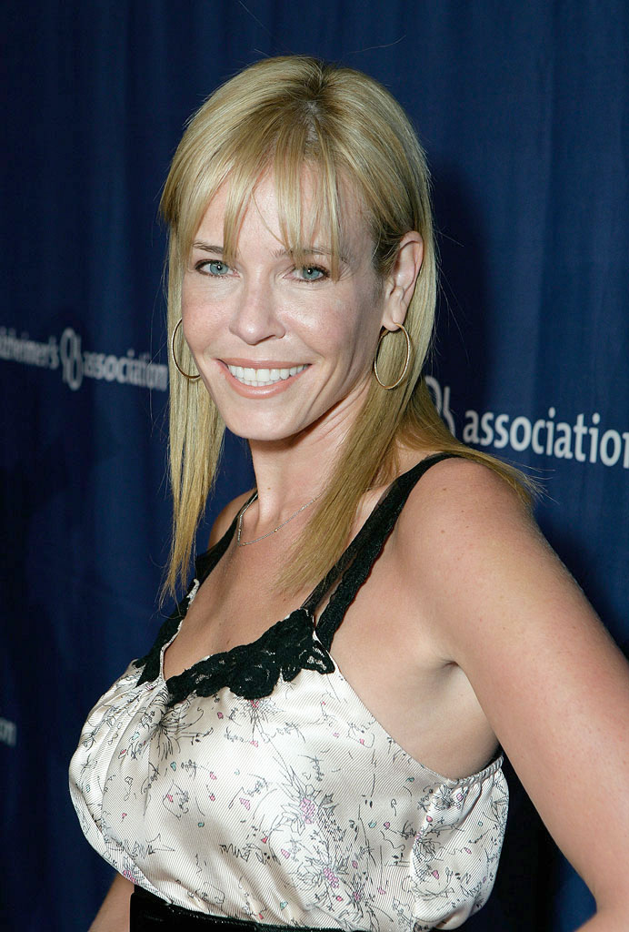 "Chelsea Handler arrives at The Alzheimer's Association's 17th Annual ""A Night At Sardi's"" at the Beverly Hilton Hotel on March 4, 2009 in Beverly Hills, California."