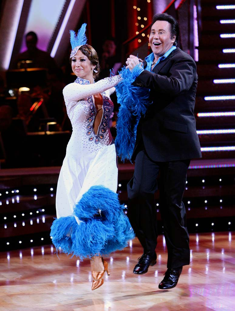 Cheryl Burke and Wayne Newton perform a dance on the 5th season of Dancing with the Stars.