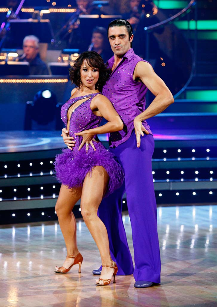 "Gilles Marini and Cheryl Burke perform the Salsa to ""I Know You Want Me (Calle Ocho)"" by Pitbull on ""Dancing with the Stars."""