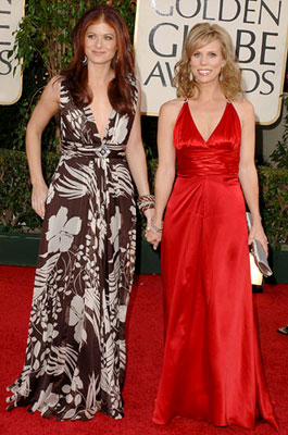 Debra Messing and Cheryl Hines 63rd Annual Golden Globe Awards - Arrivals Beverly Hills, CA - 1/16/05