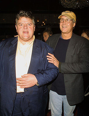 Premiere: Robbie Coltrane and Chevy Chase at the New York premiere of Warner Brothers' Harry Potter and The Sorcerer's Stone - 11/11/2001