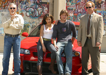"Dennis Hopper, Chris Carmack, Nadine Velazquez and Will Patton USA Network's ""The Last Ride"""
