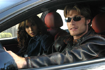"Chris Carmack and Nadine Velazquez USA Network's ""The Last Ride"""