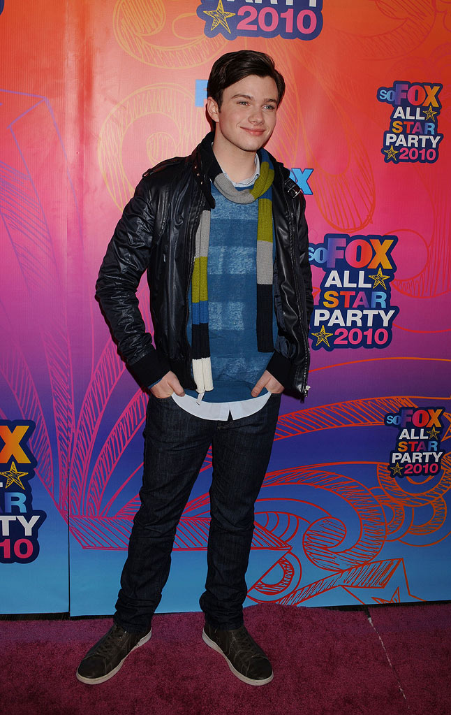 """Glee's"" Chris Colfer arrives at the Fox 2010 Summer TCA All-Star Party on August 2, 2010 in Santa Monica, California."