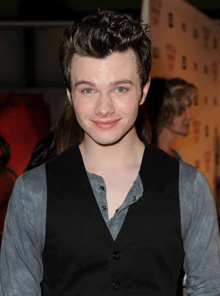 "Chris Colfer arrives at the premiere of FX's ""American Horror Story"" at the ArcLight Cinemas Cinerama Dome on October 3, 2011 in Hollywood, California."