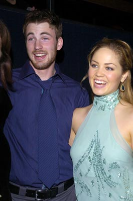 Premiere: Chris Evans and Erika Christensen at the LA premiere of The Perfect Score - 1/27/2004 Lester Cohen, Wireimage.com