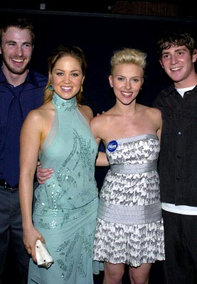 Premiere: Chris Evans, Erika Christensen, Scarlett Johansson and Bryan Greenberg at the LA premiere of The Perfect Score - 1/27/2004 Lester Cohen, Wireimage.com