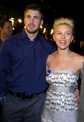 Premiere: Chris Evans and Scarlett Johansson at the LA premiere of The Perfect Score - 1/27/2004 Lester Cohen, Wireimage.com