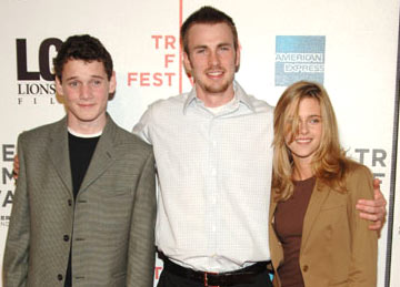 Anton Yelchin, Chris Evans and Kristen Stewart Fierce People premiere - Tribeca Film Festival April 23, 2005 - New York, NY