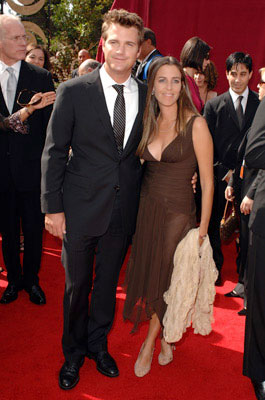 Chris O'Donnell and wife Caroline Fentress 57th Annual Emmy Awards Arrivals - 9/18/2005
