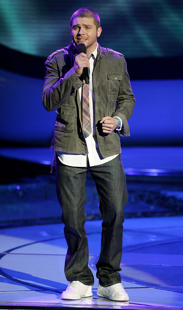 Chris Richardson performs as one of the top 10 contestants on the 6th season of American Idol.