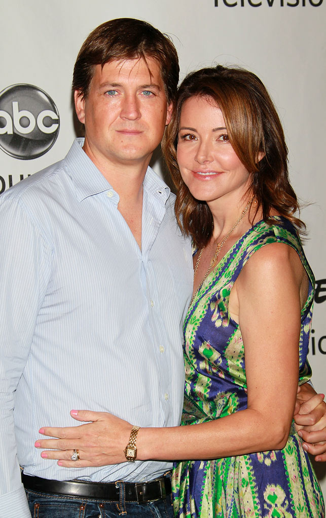"""Cougar Town's"" Bill Lawrence and Christa Miller arrive at the Disney/ABC Television 2010 TCA Summer Press Tour on August 1, 2010 in Beverly Hills, California."