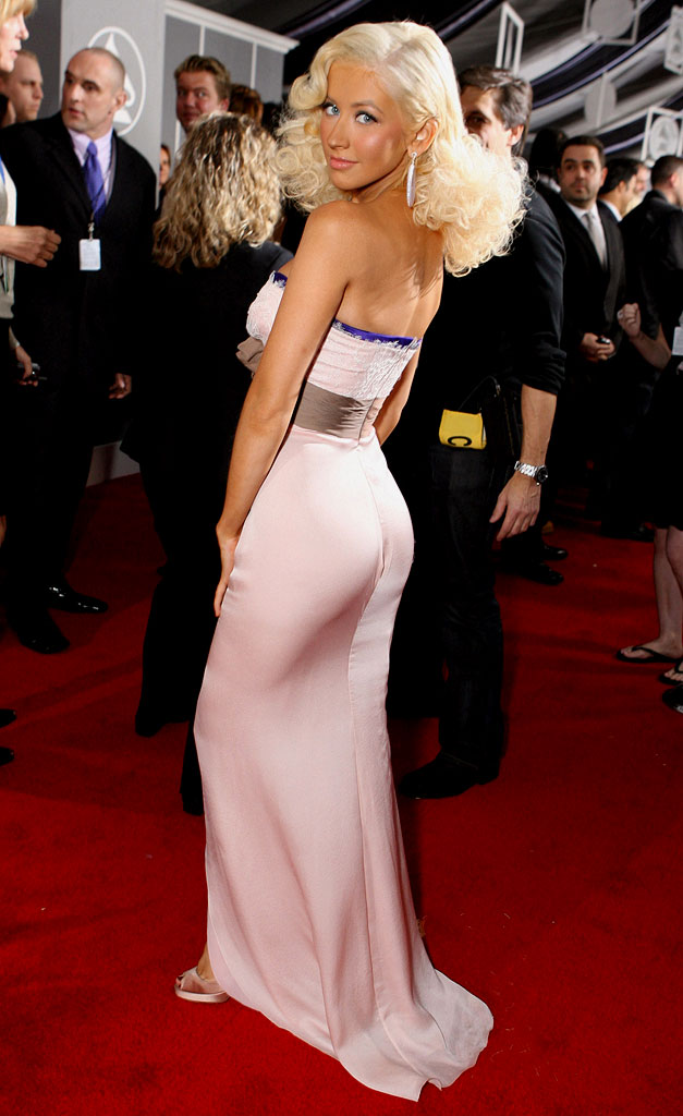 Christina Aguilera at The 49th Annual Grammy Awards.