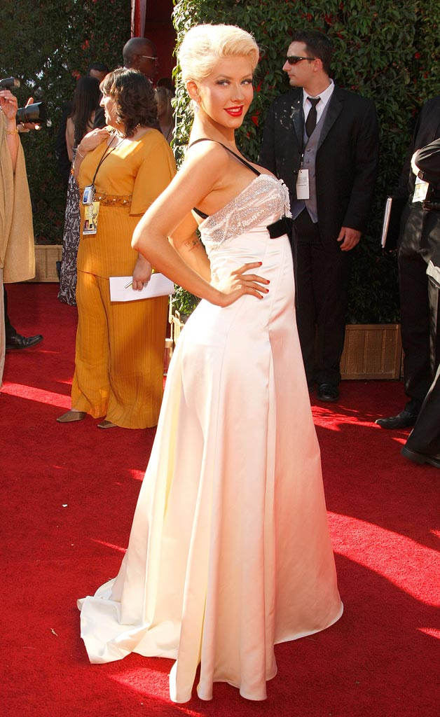 Christina Aguilera arrives at the 59th Annual Primetime Emmy Awards at the Shrine Auditorium on September 16, 2007 in Los Angeles, California.