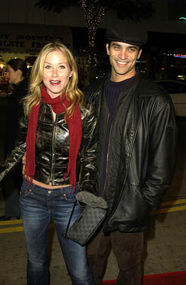"Premiere: Christina Applegate of ""Just Visiting"" and Johnathon Schaech at the LA premiere of Miramax's Kate & Leopold - 12/11/2001"