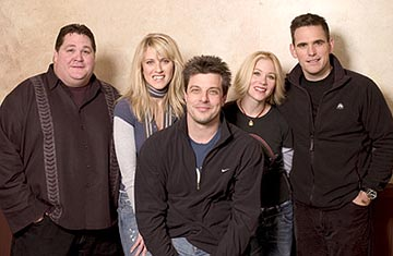 "Jay Leggett, Andrea Bendewald, Mitch Rouse, Christina Applegate and Matt Dillon ""Employee of the Month"" - 1/16/2004 Sundance Film Festival"