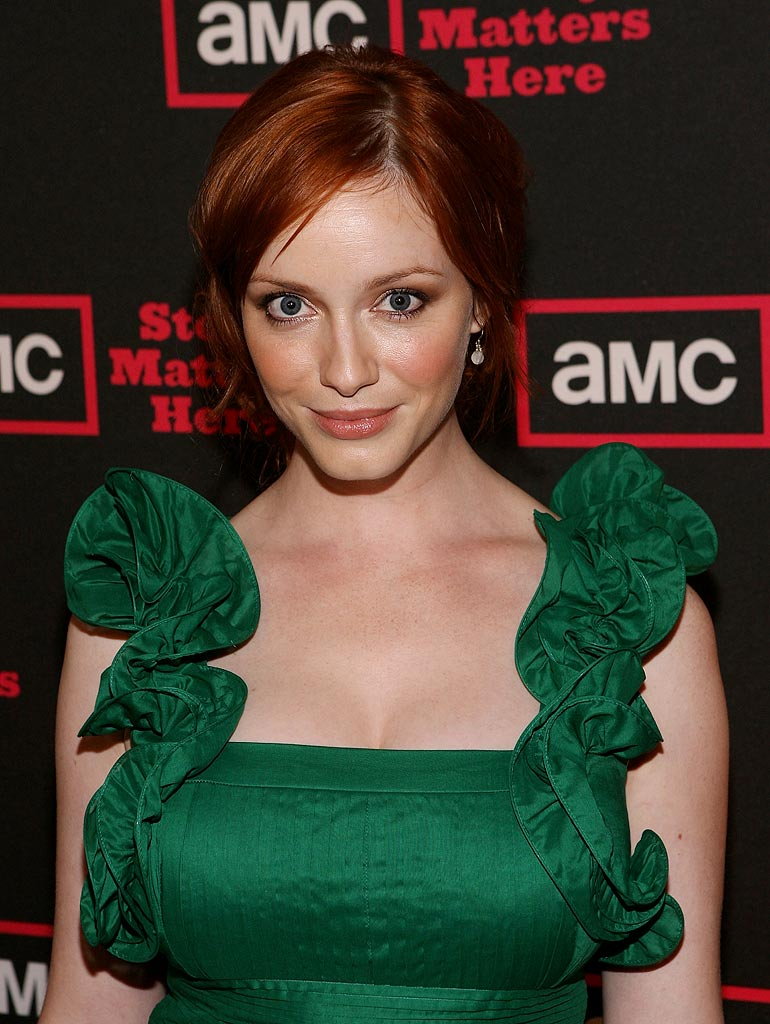 "Christina Hendricks (""Mad Men"") attends AMC's 2009 TCA Summer Tour cocktail reception at The Langham Resort on July 28, 2009 in Pasadena, California."