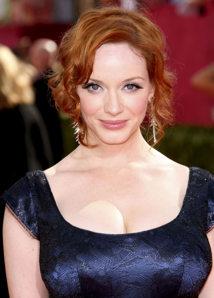 "Christina Hendricks (""Mad Men""): Can kisses have curves? They probably would if they came from this voluptuous redhead."