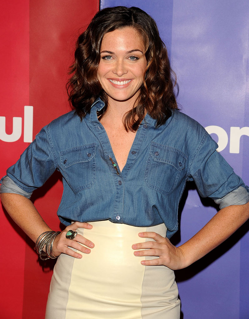 Christine Woods attends the 2010 NBC Upfront presentation at The Hilton Hotel on May 17, 2010 in New York City.
