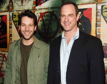 Premiere: Paul Rudd and Christopher Meloni at the New York premiere of Warner Bros. Pictures' V for Vendetta - 3/13/2006