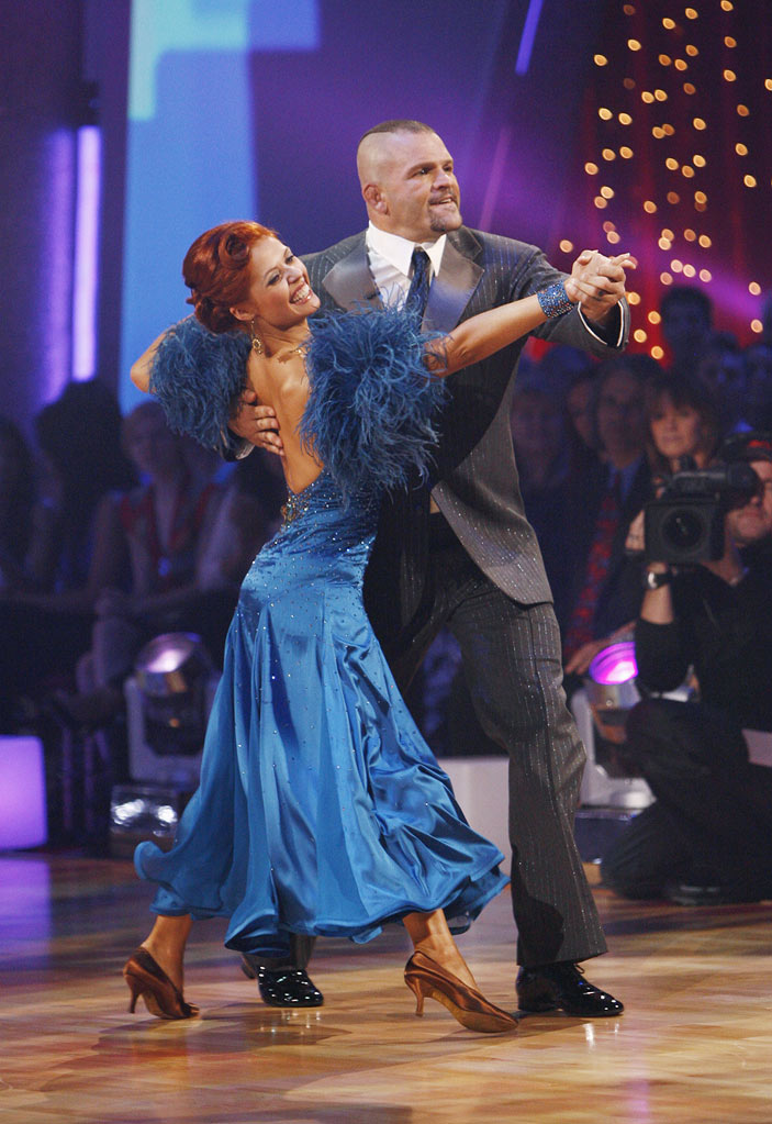 "Chuck Liddell and Anna Trebunskaya perform the Foxtrot to ""That's Life"" by Frank Sinatra on ""Dancing with the Stars."""