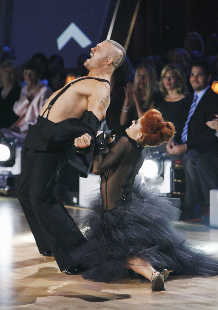 "Chuck Liddell and Anna Trebunskaya perform the Tango to ""Seven Nation Army"" by The White Stripes on ""Dancing with the Stars."""
