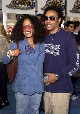 Premiere: Cree Summer with brother Rainbow Sun at the Los Angeles premiere of Disney's Atlantis: The Lost Empire - 6/6/2001