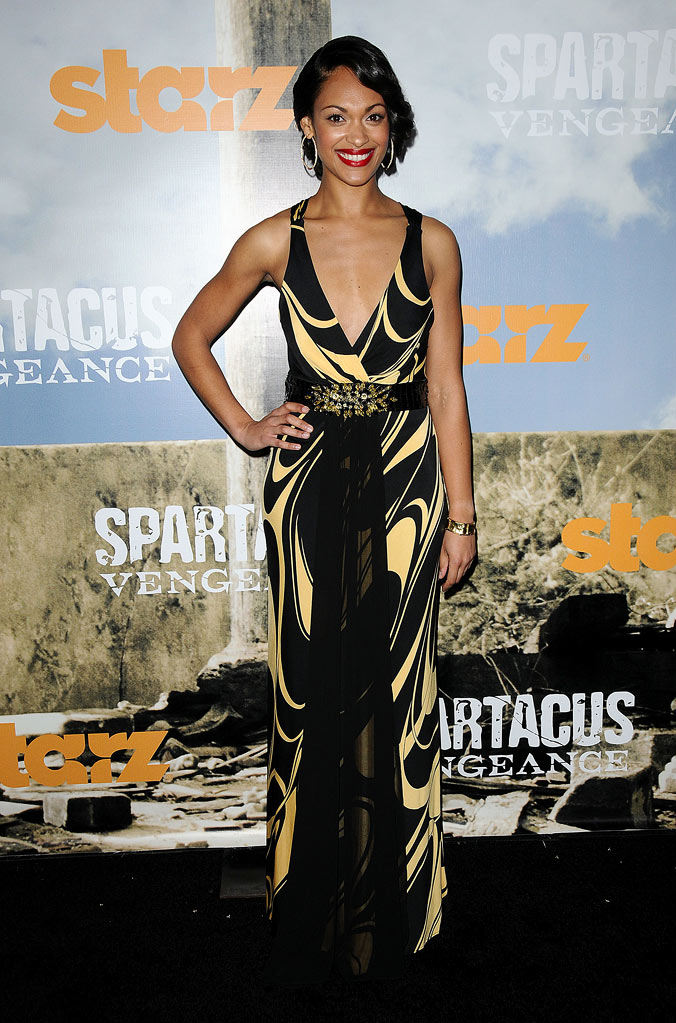 "Cynthia Addai-Robinson attends the Starz Original Series ""Spartacus: Vengeance"" Premiere Event at ArcLight Cinemas Cinerama Dome on January 18, 2012 in Hollywood, California."