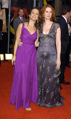 Kristin Davis and Cynthia Nixon Screen Actors Guild Awards 2/22/2004