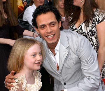 Premiere: Dakota Fanning and Marc Anthony at the LA premiere of 20th Century Fox's Man on Fire - 4/18/2004