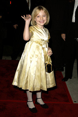 Premiere: Dakota Fanning at the Beverly Hills premiere of I Am Sam - 12/3/2001