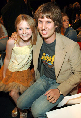 Dakota Fanning and Jon Heder  MTV Movie Awards 2005 - Backstage Los Angeles, CA - 6/4/05
