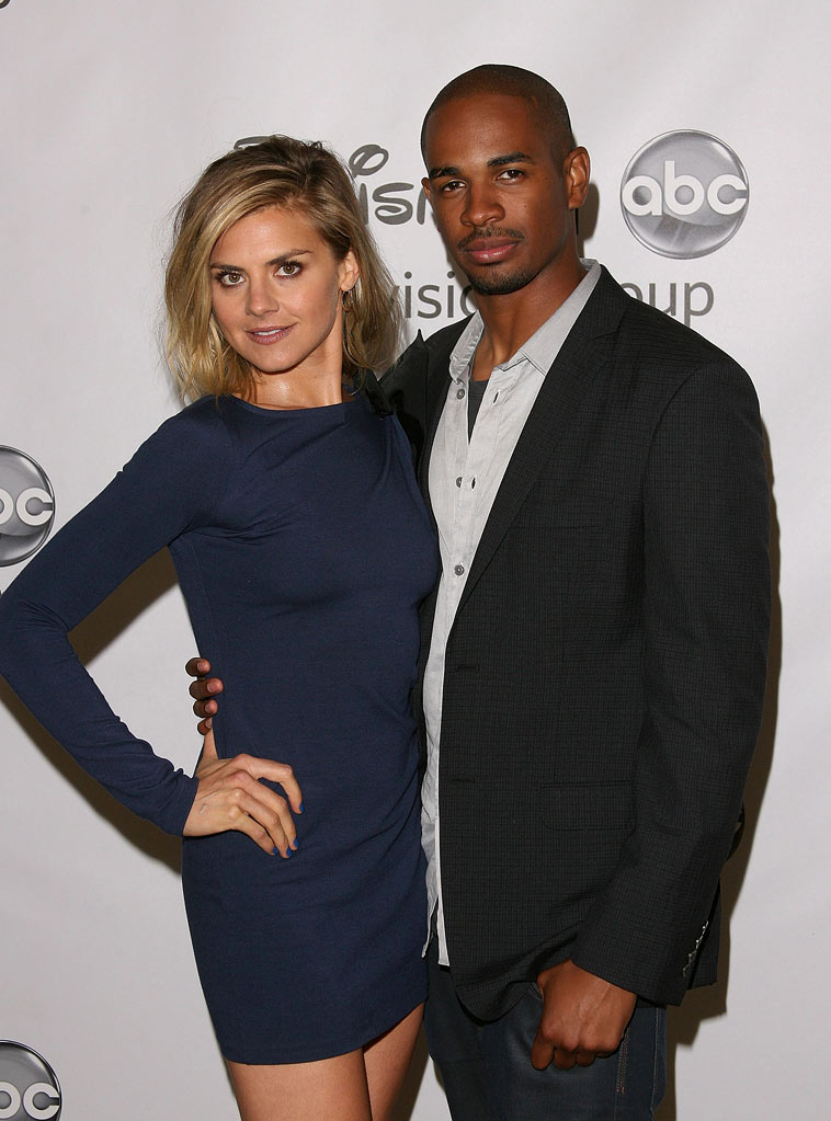 "Eliza Coupe and Damon Wayans Jr. of ""Happy Endings"" attend the Disney ABC Televison Group's 'TCA 2001 Summer Press Tour' at the Beverly Hilton Hotel on August 7, 2011 in Beverly Hills, California."