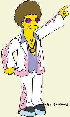Disco Stu (voiced by Dan Castellaneta) Fox's The Simpsons