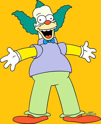 Herschel Krustofsky, a.k.a. Krusty the Klown (voiced by Dan Castellaneta) Fox's The Simpsons