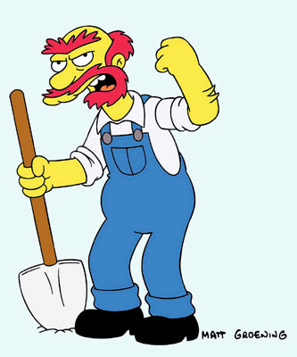 Groundskeeper Willie (voiced by Dan Castellaneta) Fox's The Simpsons