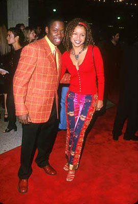 Premiere: Daryl Mitchell and Mari Morrow at the Century City premiere of Universal's The Best Man - 10/14/99