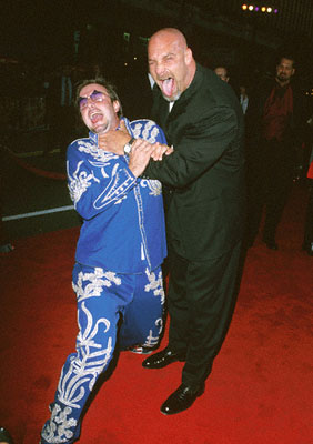 Premiere: David Arquette and Bill Goldberg at the premiere of Warner Brothers' Ready To Rumble - 2000