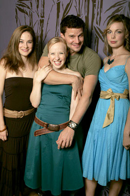 Caroline Dhavernas, Holly Lewis, David Boreanaz and Amanda Walsh 2005 Toronto Film Festival - 'These Girls' Portraits