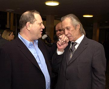 Premiere: Harvey Weinstein and David Carradine at the LA premiere of Miramax's Kill Bill Vol. 2 - 4/8/2004