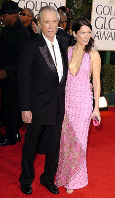 David Carradine with wife Annie Bierman 62nd Annual Golden Globe Awards - Arrivals Beverly Hills, CA - 1/16/05